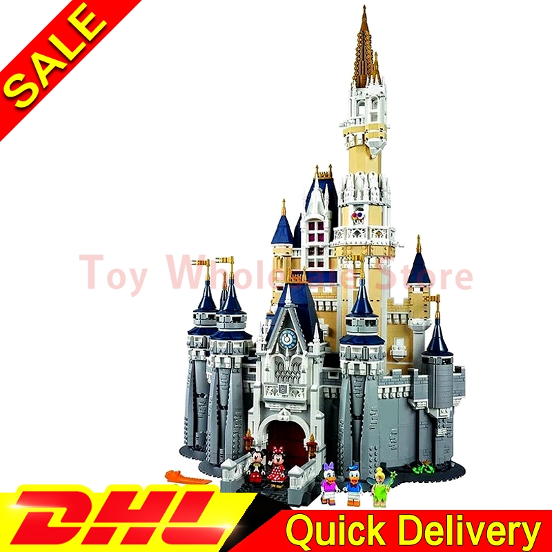 LEPIN 16008 Cinderella Princess Castle City 4080pcs Model Building Block Kid lepins Toy Gift Clone 71040 hot cinderella princess castle city model building block kid educational brick toy for compatible lepins christmas children gift