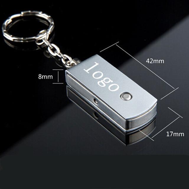 50pcs /lot 4GB 8GB metal swivel usb 2.0 memory stick thumb pen drive professional custom print logo