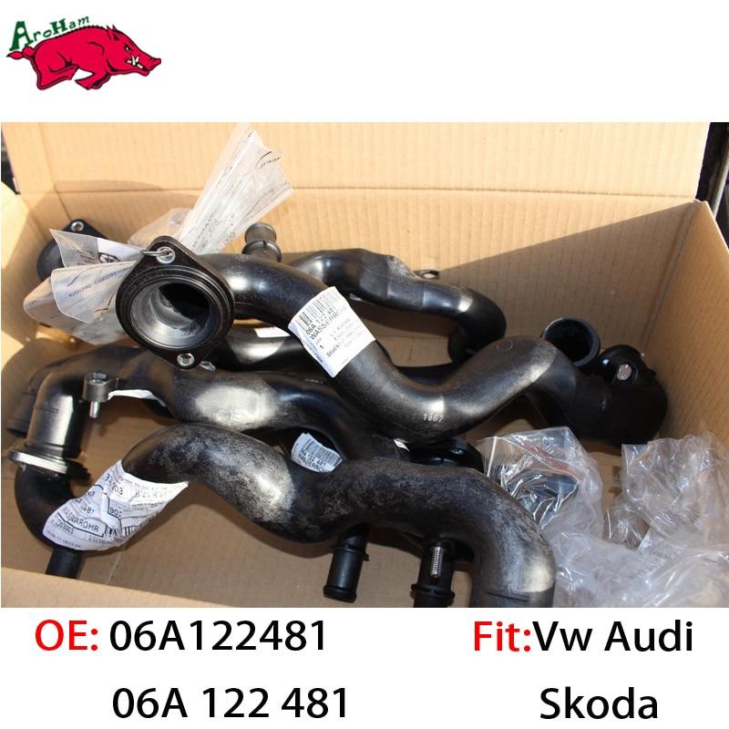 Harbll Factory Best Quality 06A122481/06A 122 481 Radiator Water Pipe For SKODA OCTAVIA (1U2) 1.6 SKODA OCTAVIA Combi (1U5) 1.6 plastic coolant water pipe for vw golf 4 bora a3 octavia leon toledo 06a 122 481 06a122481