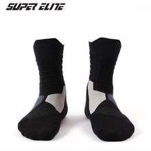 Basketball Socks (3 Pairs/lot) SUPER Elite/1002-2 Men Sports Socks Cotton Outdoor Hiking Socks 2 pairs men s breathable outdoor socks hiking sports socks climbing socks s015