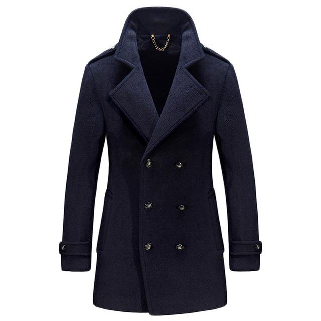 Roupa nova chegada dos homens livres do transporte de médio-longo sobretudo de lã masculina fino casaco de lã mistura casacos homens de lã casacos 198hfx