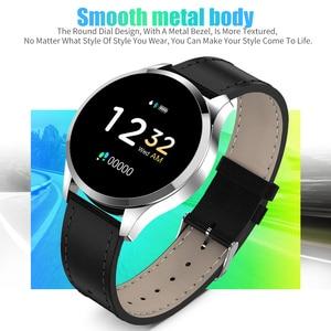 Image 2 - Смарт часы RUNDOING Q9, водонепроницаемые, напоминающие о звонках, умные часы для мужчин, монитор сердечного ритма, модный фитнес трекер
