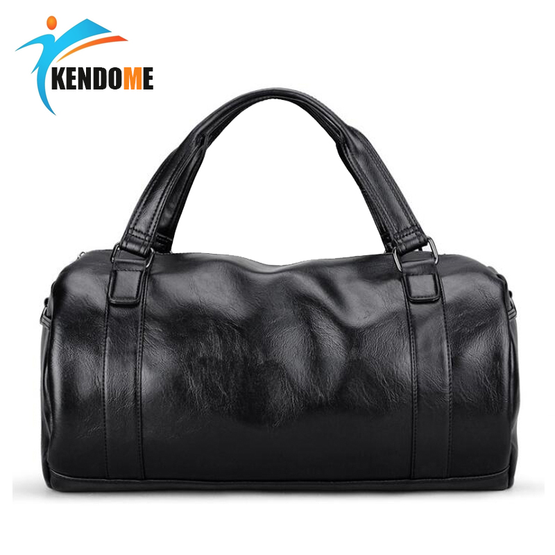 2018 Women Pu Soft Leather Fitness Gym Bags For Men Striped Training Shoulder Sport Bag Handbag Traveling Bag Customers First Security & Protection