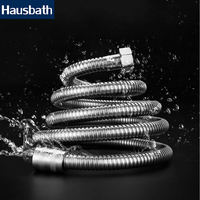 1.2M Plumbing Shower Hose Pipe Stainless Steel Shower Water Hose Flexible Replace Pipe Chrome Finish Bathroom Accessories