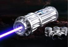 Wholesale prices NEW High Power Blue Laser Pointers 500000mw 500w 450nm Flashlight Burning Match Lazer Cannon light Burn cigars hunting Camping
