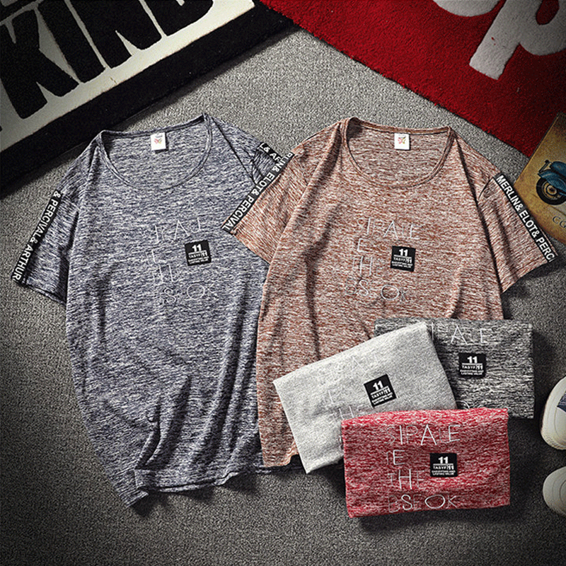 Domple Mens Short Sleeve Pocket Casual Round Neck T Shirts Tee