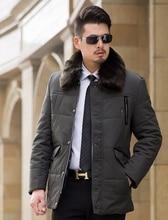Мужская Случайный Толщиной Парка Плюс Размер 6XL Длинные Стиль Свободный Пальто с Меховым Воротником На Молнии Теплая Зима Куртка Мужчины Зеленый Темно-Синий K259