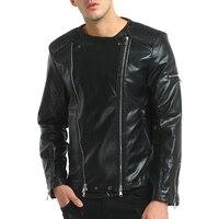 2018 New Jacket Men Hot Sale High Quality Jackets Men'S Fashion Big Lapel Motorcycle Zipper Short Section Brand Casual Jackets