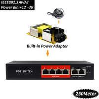 Ethernet de commutateur de POE de 48V 4 Ports avec le port standardisé IEEE 802.3 af/at approprié à la caméra IP/AP sans fil/système de caméra de télévision en circuit fermé