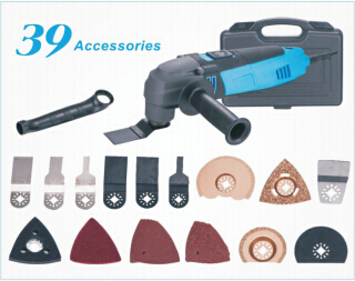 110V / 230V Multi-Function Electric Saw Renovator Tool+Handle+Tube+37PCS Accessories Oscillating Trimmer home renovation Tools