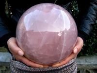 ddh001080 HUGE NATURAL rose quartz crystal sphere ball healing