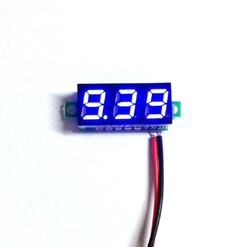 Super Mini Digital Car Voltmeter 0.28 Blue LED Display DC 3.5-30V car Volt Voltage Panel Meter Battery Monitor