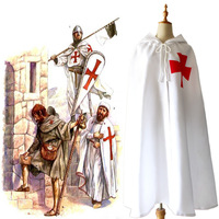eea64494454 Game Cross Knights Cloak Halloween Medieval Warrior Roman Empire Costumes  For Adult Men And Women Drop