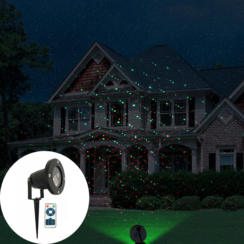 Outdoor Moving Full Sky Star Christmas Laser Projector Shower Lamp Red&Green Star Landscape Lawn Garden Light LED Stage Light christmas waterproof laser lighting landscape sky star green red laser effect projector stage light for outdoor garden lamp