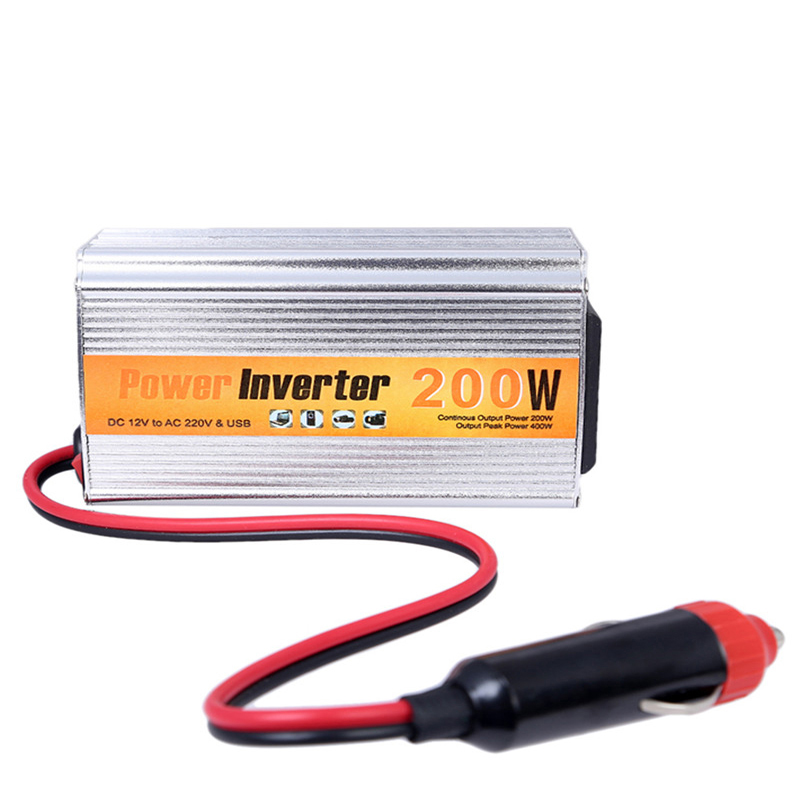 цена на 200w Auto Inverter 12v 220v With Usb Car Power Converter 12V DC To AC 220V Adapter Car Adaptor 200W Car Styling Free Shipping