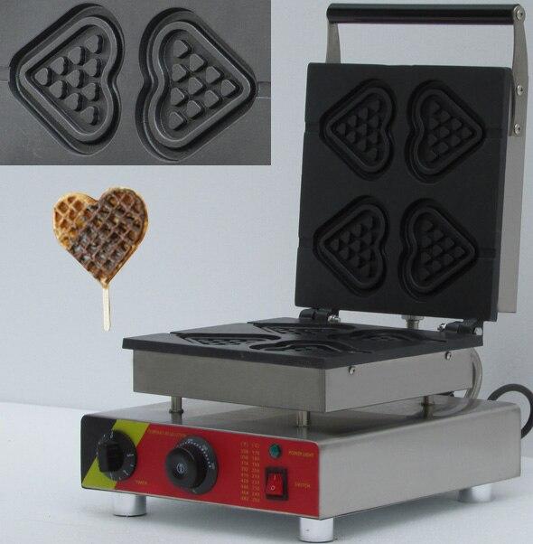 110V 220V Heart Shape Waffle iron; waffle baker; Waffle maker shapes 110v 220v waffle maker iron machine baker heart shape commercial waffle maker