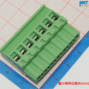 100Pcs 7P 5.08mm Pitch B-Type Straight Female PCB Electrical Screw Wire Terminal Block Connector