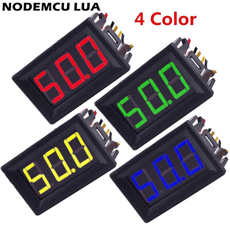 0,56 Zoll Mini Digital Voltmeter Amperemeter 2/5 Draht Dc 100 V 10a Voltmeter Strom Meter Tester Dual Led-anzeige Grün Rot Blau QualitäTswaren