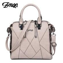 ZMQN Luxury Handbags Women Bags Designer 2017 Famous Brands Women Shoulder Bag PU Leather Tassel Stitching