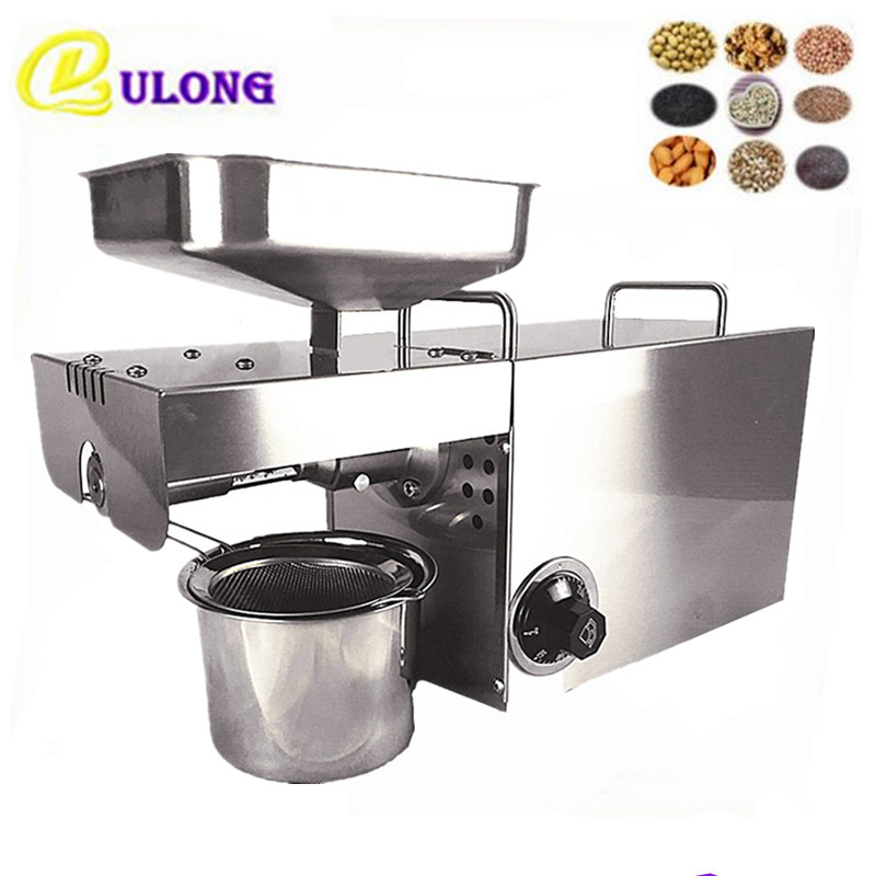 DL-ZYJ05C Oil press machine stainless steel seed oil extractor hot cold press for peanut, sesame, flaxseed, coconut, cocoa automatic nut seeds oil expeller cold hot press machine oil extractor dispenser 350w canola oil press machine
