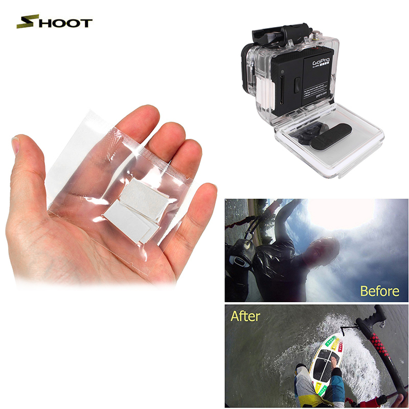 Gopro 12pcs Anti-Fog Inserts Camera Accessories Anti Fog Recycle Drying Inserts Inside Waterproof Housing For Sj4000 Xiaomi Yi