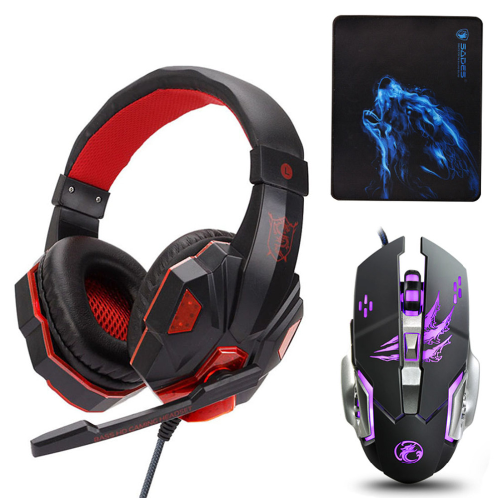 Gaming Headphones casque Soyto PS830 Best Computer Stereo Deep Bass Game Earphone Headsets with Mic LED Light for PS4 Xbox One