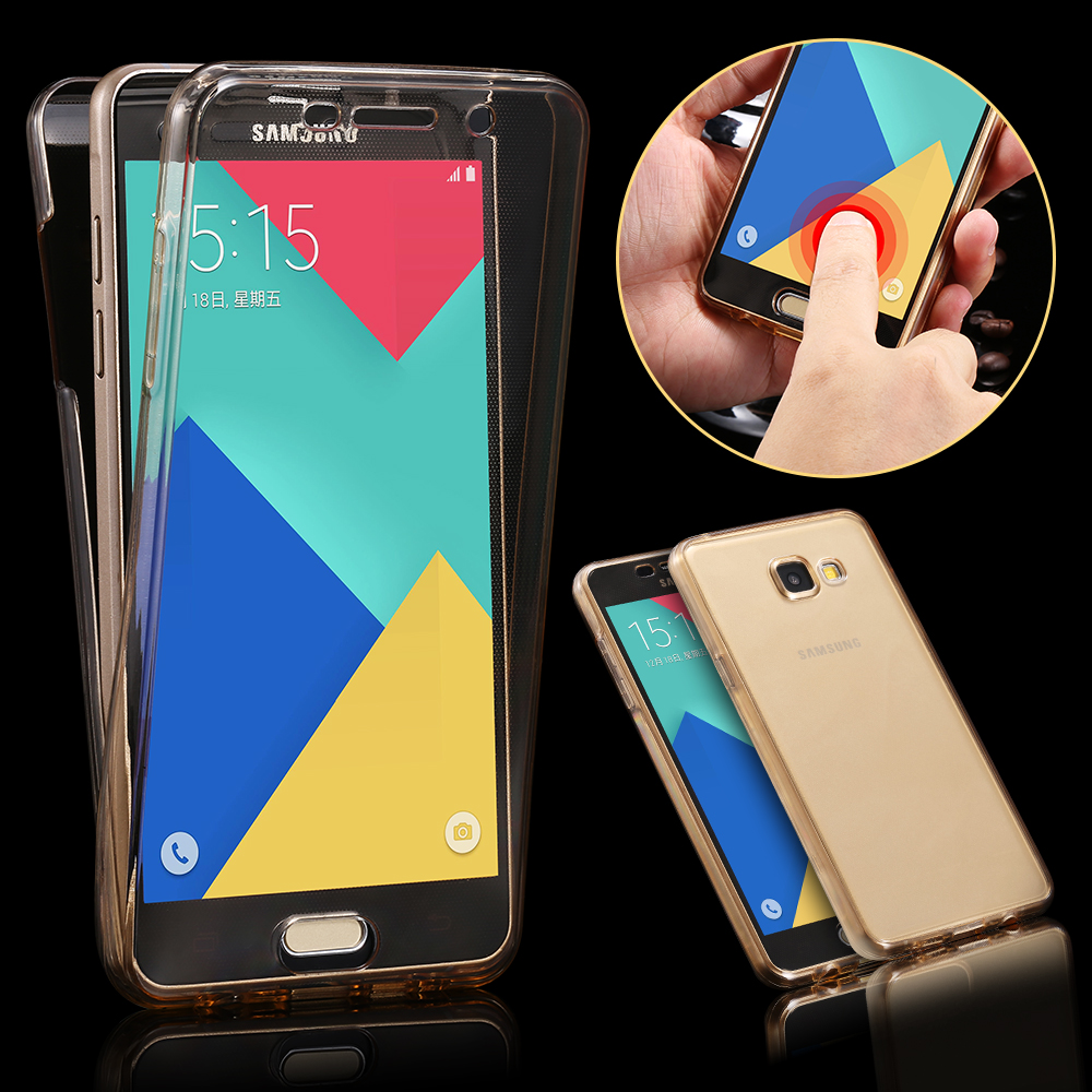 A9 Crystal Touch Full body Transparent Case for Samsung Galaxy A9-2016 Cover Soft 360 Silicone Phone bag Cases A910 SM A9000