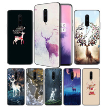 Cartoon Animals Deer Soft Black Silicone Case Cover for OnePlus 6 6T 7 Pro 5G Ultra-thin TPU Phone Back Protective