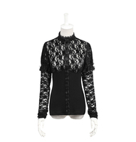 Punk Rave Spring New Products Hollow Out Knitted Bands Sexy Women T Shirt
