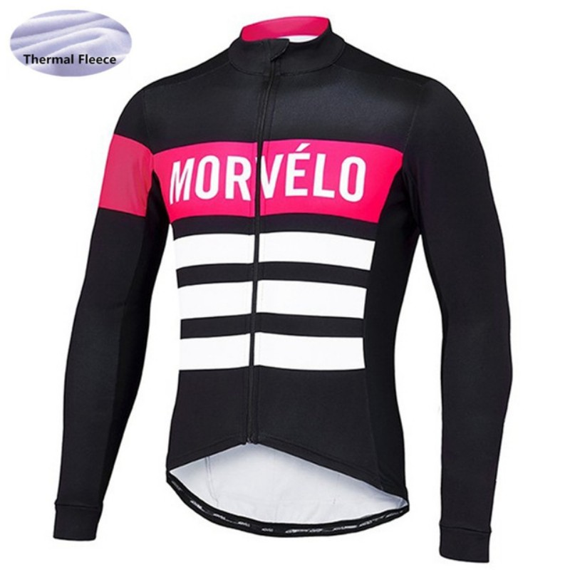 2017 Morvelo Winter Cycling Jersey Thermal Fleece Men's Cycling Clothing Road Bike Wear Bicycle Jersey Cycle Clothes Ciclismo bxio winter thermal fleece cycling jersey sets pro team long sleeve bicycle bike clothing cycling pantalones ropa ciclismo 111