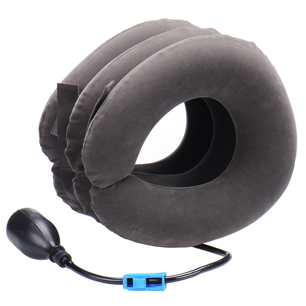 Neck cervical traction device - inflatable collar Head Back Shoulder - Neck Pain Headache health care massage device 22