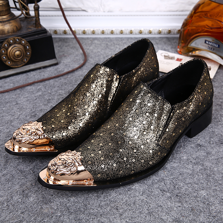 9cafdc52ad0 Mens Wide Fit Smart Office Wedding Shoes italian Dress Work Casual Party  Shoe Metal Tip Slip On Fashion men s Shoes Size 37-46