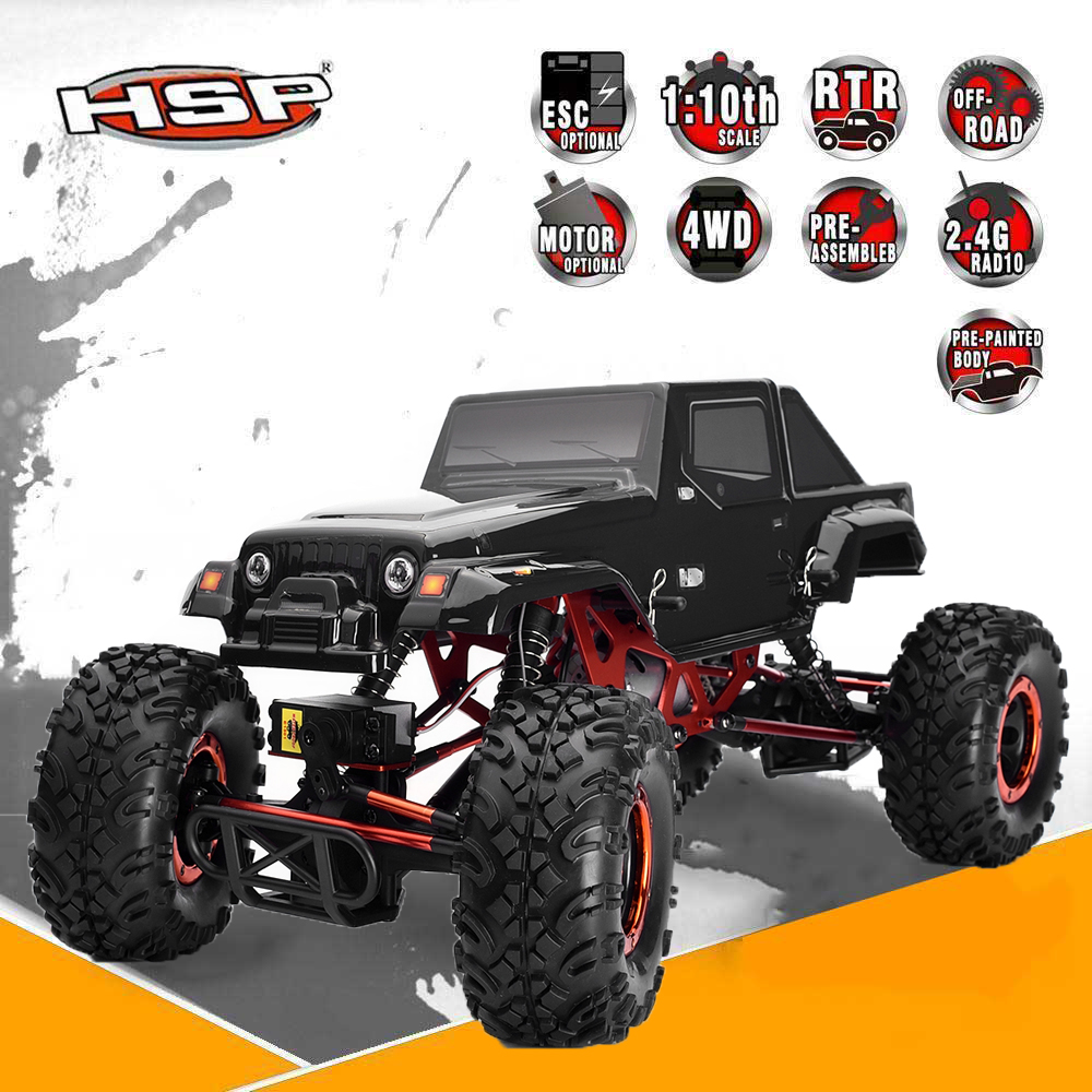 HSP Rc Car 1/10 Scale Electric Power Remote Control Car 4wd Off Road Rock Crawler 94180 Climbing High Speed Drift Car Hobby Toys hsp 94180 1 10th scale rc car 4wd electric powered off road rc crawler 2 4g climbing truck car p3