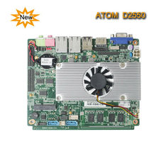 Embedded Lan card Thin Client Board fanless X86 industrial main board With Intel Atom Processor /with onboard 2GB ddr3/msata
