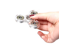 1pcs Transparent Acrylic Hand Tri Spinners New Fidget Vinger Spinner Figit Spiner Finger Gyro Toy Handspinner