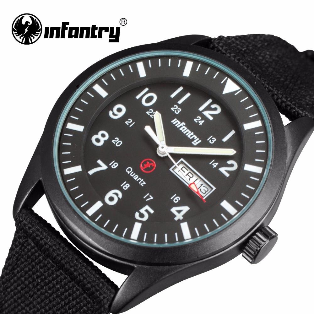 INFANTRY Quartz Watches Mens Ultra Thin Nylon Strap Wristwatches Relogio Masculino 24 Hours Display Luminous Sports