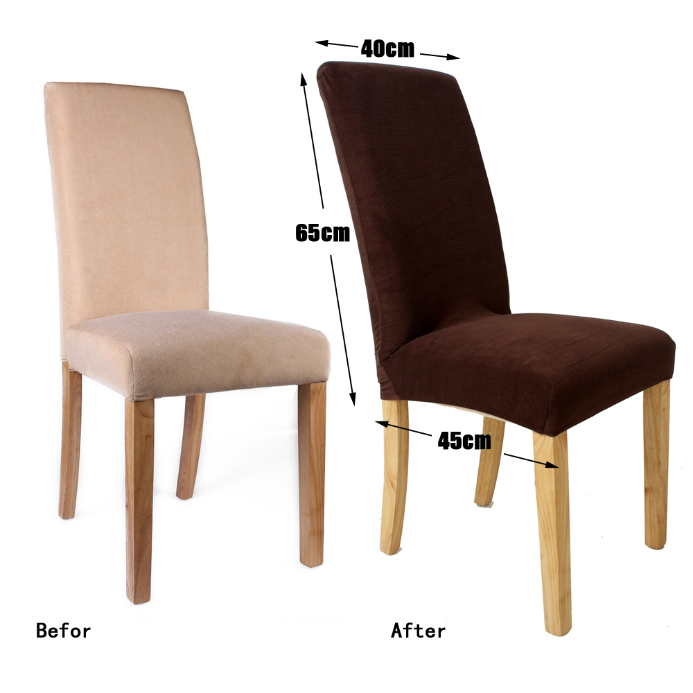 1 Piece Polyester Spandex Dining Chair Covers For Wedding Party Chair Cover  Brown Dining Chair Seat Covers HGTXTBCR005 In Chair Cover From Home U0026  Garden On ...