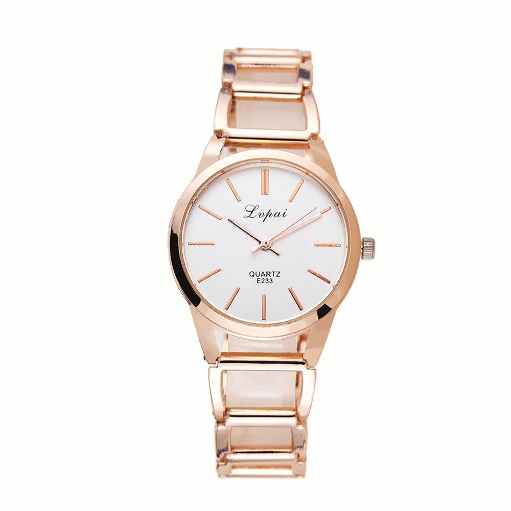 Women's Watches 2018 Relogio Masculino Fashion Rose Gold Ladies Watch Women Watches Stainless Steel Quartz Wrist Watch Clock bumvor watches women fashion watch 2017 unisex watches rose gold silver lady clock men relogio masculino horloge orologi donna