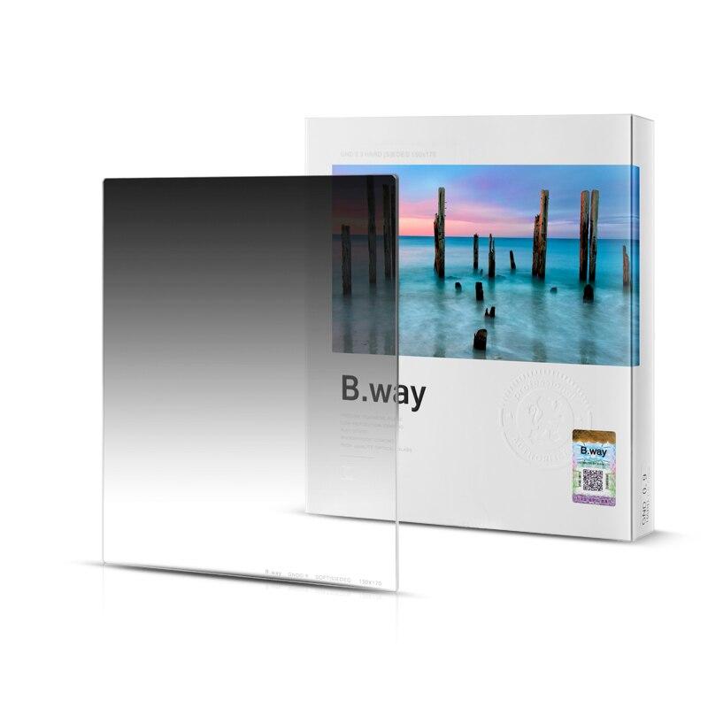 B. way carré photographique GND 0.9/1.2 doux (s) bord Gradient neutre densité filtres 150x170mm
