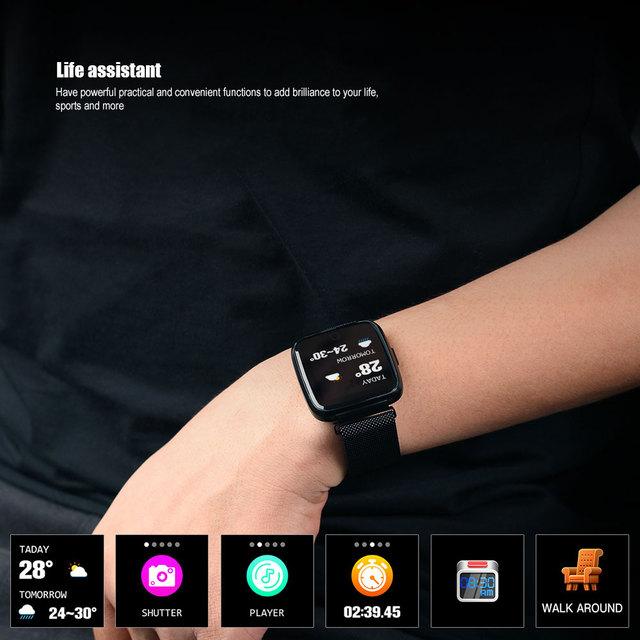 VERYFiTEK Y7, Blood Pressure & Heart Rate Monitor, Fitness Tracker, Waterproof, For Android or IOS