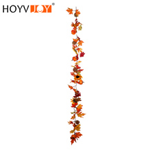 HOYVJOY  Autumn maple leaf sunflower decoration rattan Artificial plant Home office shopping mall 180cm free shipping