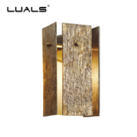 Luxury Copper Wall Lights Bark Pattern Art Deco Wall Lamp Post Modern LED Light Fixture High end Club Wall Lamps Indoor Lighting