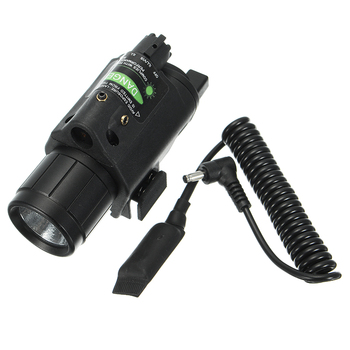 Green Laser Sight Dot Scope 300 Lumen LED Flashlight Combo Tactical Picatinny 20mm Rail Mount Durable