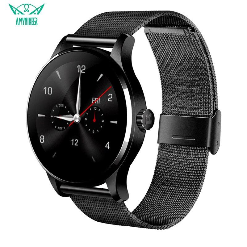 AMYNIKEER Smart watch Men k88h Heart Rate Sleep Monitoring Pedometer Waterproof Support IOS Android PK F1