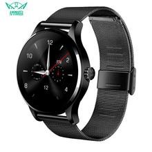 AMYNIKEER reloj inteligente k88h PK F1 KW18 para hombre, reloj inteligente resistente al agua con control del ritmo cardíaco y del sueño, podómetro y compatible con IOS y Android