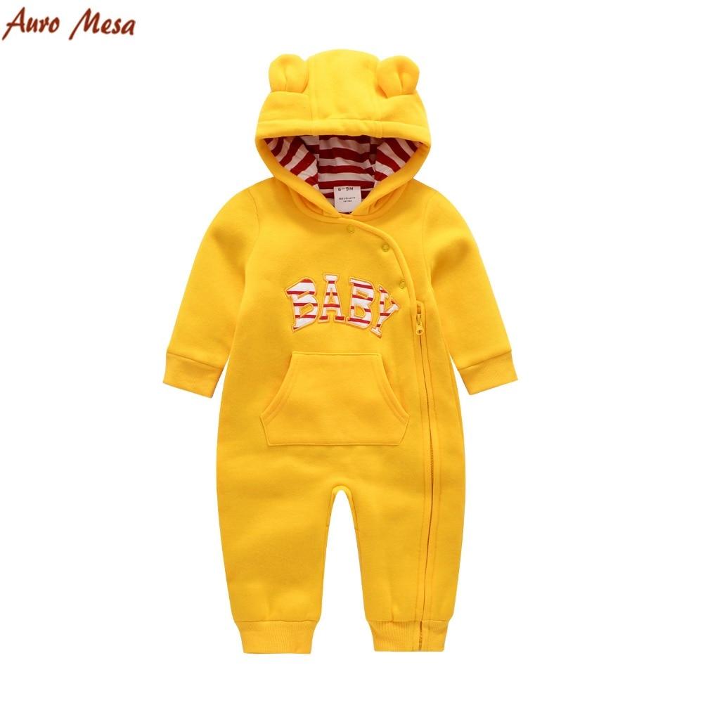 Jesień Zima Baby Romper 100% bawełny z długim rękawem Ciepły - Odzież dla niemowląt - Zdjęcie 1