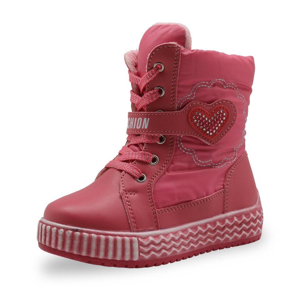 Mudibear enfants bottes pour filles neige chaussures garçons bottes enfants Watrerproof cuir Out-door peluche chaud confortable 2018 bota