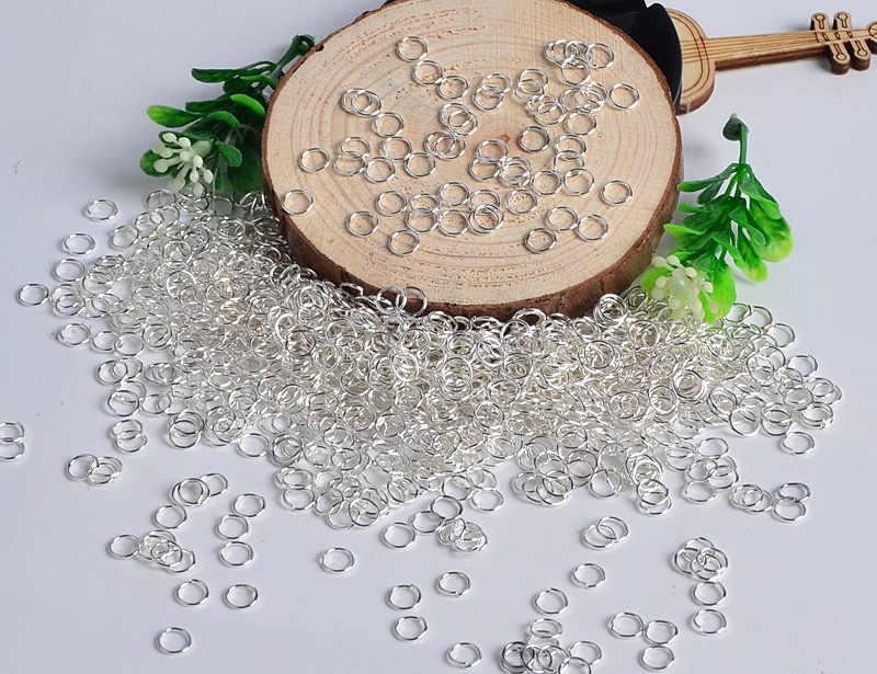 100 unids/bolsa 4 6 8 10 12mm anillos de Metal de plata/oro/bronce conectores de anillos divididos de Color para hacer la búsqueda de joyería Diy