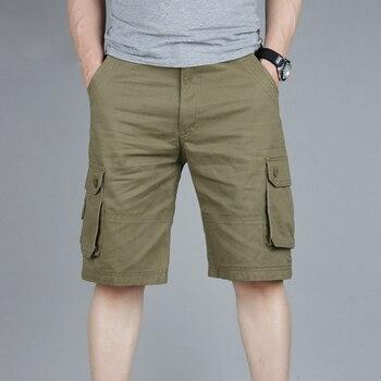 226b1d4a Брюки карго мужские летние повседневные спортивные брюки с карманами 2019 Мужские  штаны для бега короткие брюки дышащие большие высокие 42 44 46.