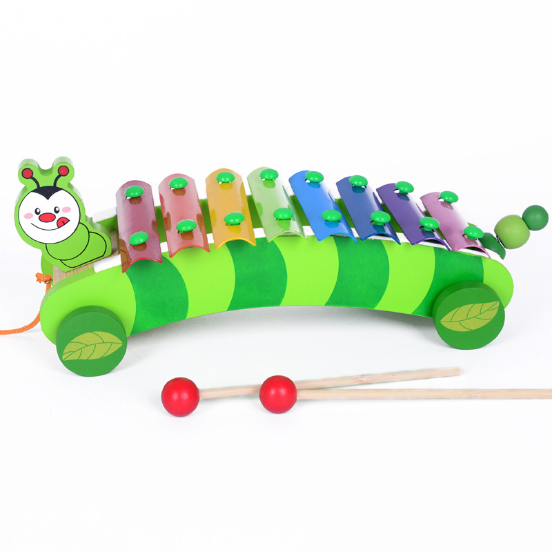 8 Scales Wood Toy Music Instrument Kids Cartoon Cute Dog Xylophone Percussion Musical Baby Wooden Toys For Children Gifts MG-D20